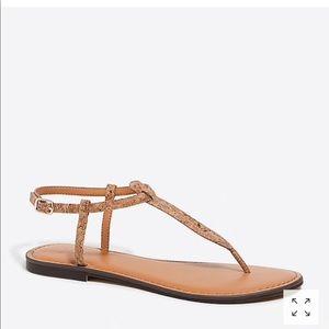 J. Crew cork t-strap sandals - 7.5